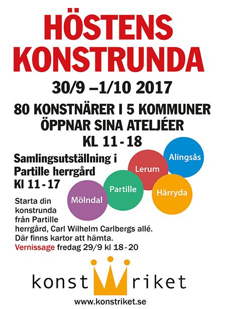 Affisch för Konstrikets konstrunda 2017